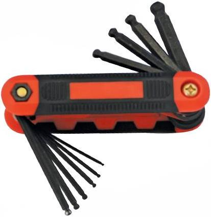 Silverline - 10PCE FOLDING METRIC BALL END HEX KEY SET - 783179