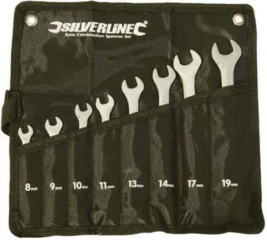 Silverline - DISPLAY BOX OF 6, 8PCE COMBINATION SPANNER SET - 868755