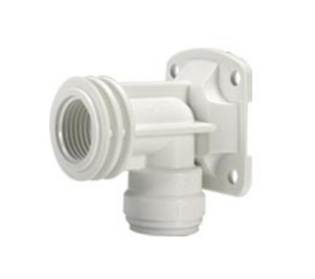 "Plastic Back Plate Elbow - 15mm x 1/2"" - 15PWB"