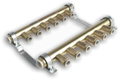 Speedfit 4 Zone Brass Rail Manifold - 246387