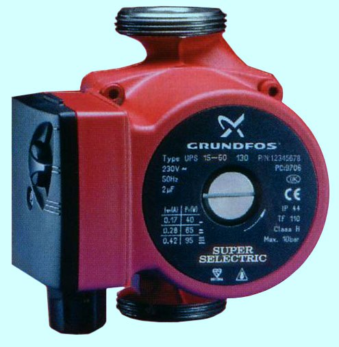 Grundfos UPS 15-60 Super Selectric Bare Pump - DISCONTINUED