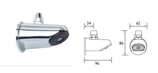 Sirrus Adjustable Shower Head Rear Supply Svr500cp