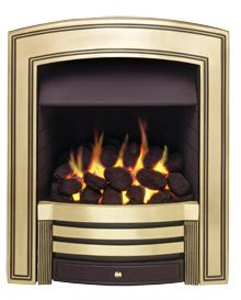 Valor Knightsbridge Inset Gas Fire - Brass - 109911BS - DISCONTINUED