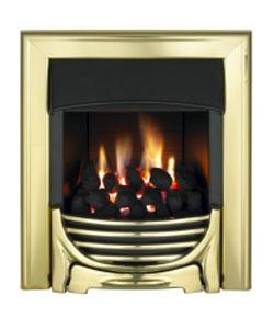 Valor Decadent Slimline C1/2 Inset Coal Gas Fire - Brass - 104867BR