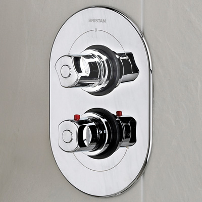 Bristan Aqueous Thermostatic Dual Control Surface Mounted