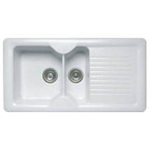 The Kitchen Works Ceramas 1.5B Sink & Drainer - B76352 - SOLD-OUT!!