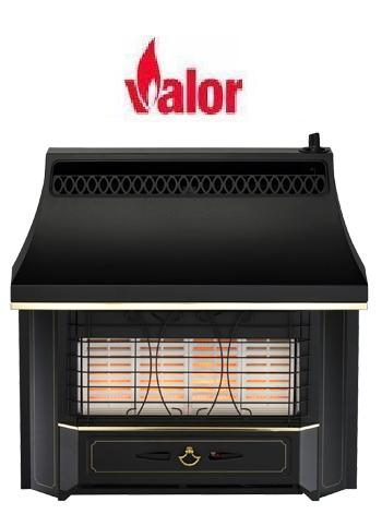 Valor Black Beauty Radiant Oxysafe Outset Gas Fire - Manual Control - 109955
