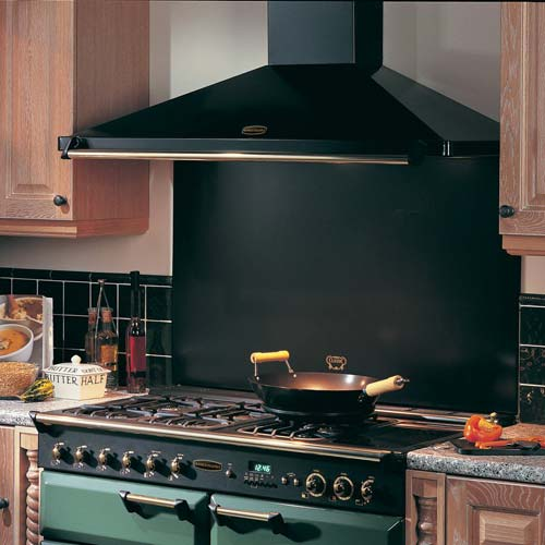 Classic Chimney Hood - Black Brass Rail 90cm - DISCONTINUED