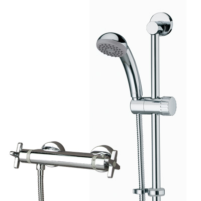 Bristan Design Utility Crosshead Bar Shower with Adjustable Riser & Fast Fix Connections Chrome Plated - DUX SHXARFF C - DUXSHXARFFC - DISCONTINUED