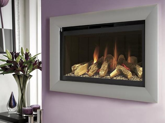 FLAVEL Rocco BF (Balanced Flue) Silver and Black with Remote - 109723BS