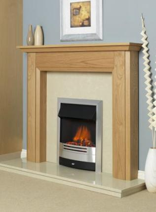 FLAVEL Ultiflame Electric - Prominence (Electrical Fire) - Silver / Black - 143858