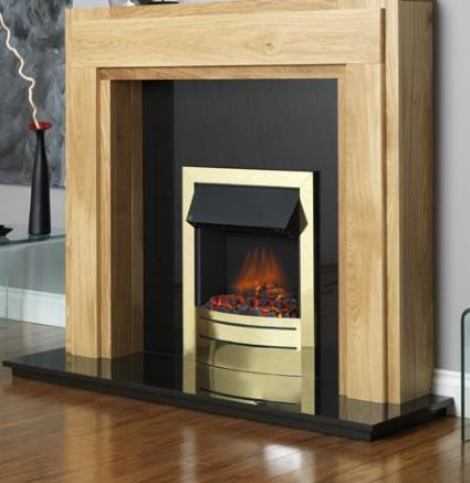 FLAVEL Ultiflame Electric - Contemporary (Electrical Fire) - Brass - 143864BS