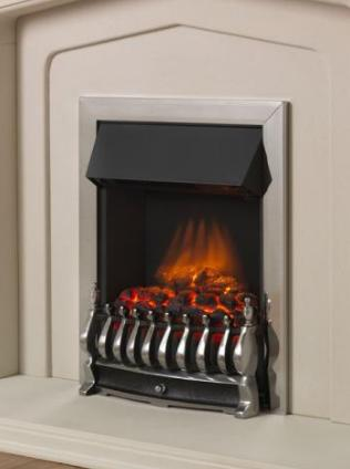 FLAVEL Ultiflame Electric - Traditional (Electrical Fire) - Silver - 143855CP