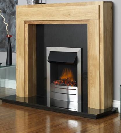 FLAVEL Ultiflame Electric - Contemporary (Electrical Fire) - Silver - 143864SS