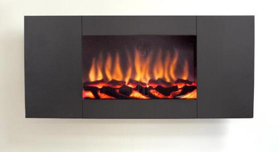 FLAVEL Marino (Electrical Fire) Panoramic - Black - 143874