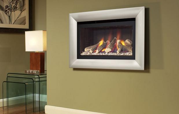 FLAVEL Jazz HE HITW Gas Fire Black Back and Silver Trim - FHCL01RN