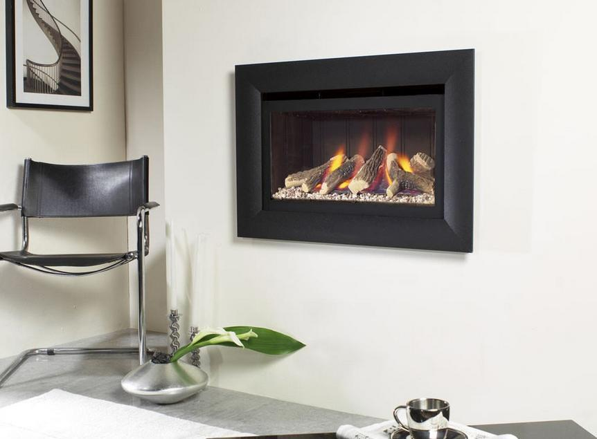 FLAVEL Jazz HE HITW Gas Fire Black Back and Black Trim - FHCL02RN