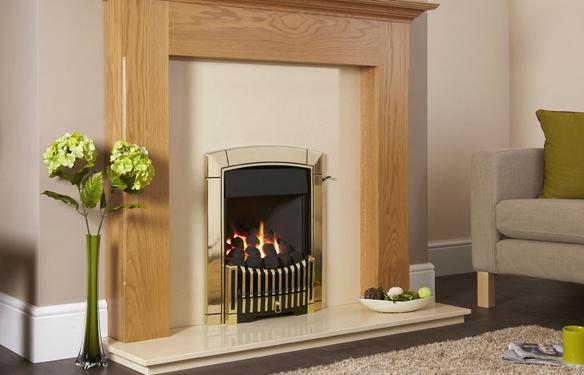 Flavel Caress Plus Contemporary Gas Fire Remote Brass - FKPC15RN