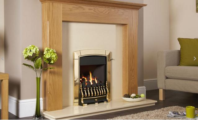 Flavel Caress Plus Traditional Gas Fire Slide Brass - FKPC41SN