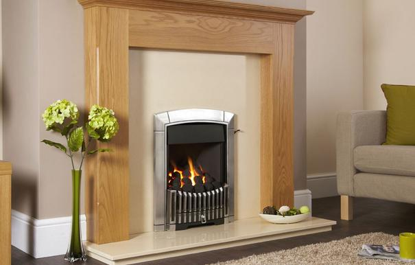 Flavel Caress Plus Contemporary Gas Fire Slide Silver - FKPC6RSN