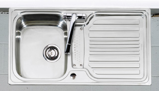 Astracast Montreux 1.0B Sink Ch Waste and Overflow - G12283