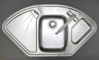 Astracast Lausanne Deluxe Corner Sink & Colander - DISCONTINUED - G12297