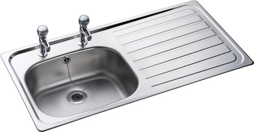 Leisure Sink Lexin 1.0B Kitchen Sink Right Hand - G66600