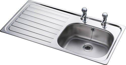 Leisure Sink Lexin 1.0B Left Hand Kitchen Sink - G66602
