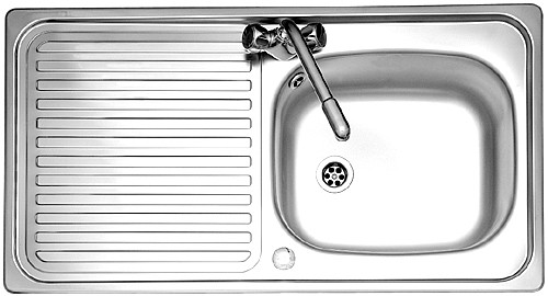 Leisure Sink Linear 1.0B 1TH Reversible Kitchen Sink- G66603