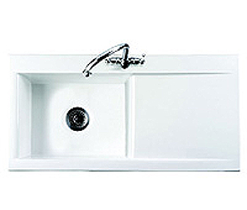 Leisure Sink Nevada 1.0B LHD Kitchen Sink White - DISCONTINUED - G66633
