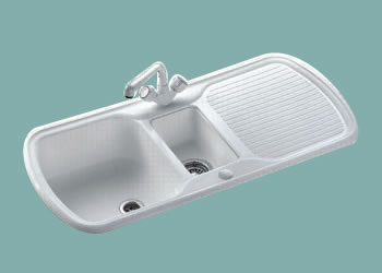 Leisure Sink Consort Cyntra Sink 1.0BSink White - G66769 DISCONTINUED