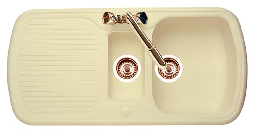 Leisure Sink Consort Cyntra Sink 1.0B Sink Champagne - DISCONTINUED ...