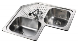 Leisure Sinks Cornerline 1.0B Inset Corner Sink - G66849