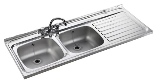 Leisure Sink Contract 2.0B Square Front Kitchen Sink - G66864 - SOLD-OUT!!