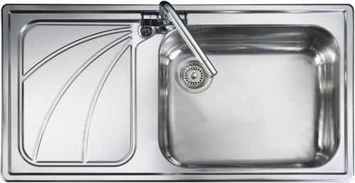 Rangemaster Chicago 1.0B Left Hand Kitchen Sink - DISCONTINUED - G70252