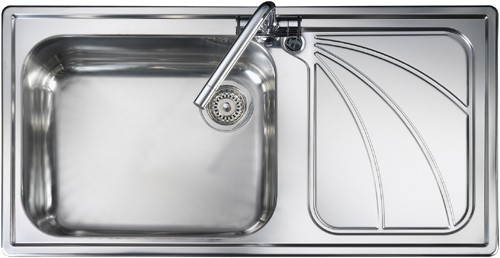 Rangemaster Chicago 1.0B Right Hand Kitchen Sink - DISCONTINUED - G70253
