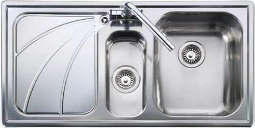 Rangemaster Chicago 1.5B Left Hand Kitchen Sink - G70254