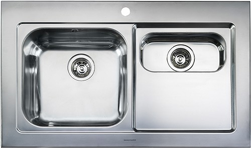 Rangemaster Mezzo 1.5B Stainless Steel Kitchen Sink - G70265