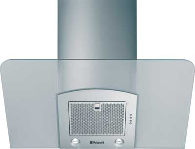 HDF92 90cm Chimney Hood with Angled Glass