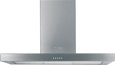 HSD93 90cm Chimney Hood with Glass Front Panel - DISCONTINUED