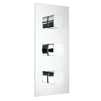 Bristan JS2 Thermostatic Recessed Shower Valve with Diverter and Stopcock - JS2 SHC3DIV C - JS2SHC3DIVC - DISCONTINUED