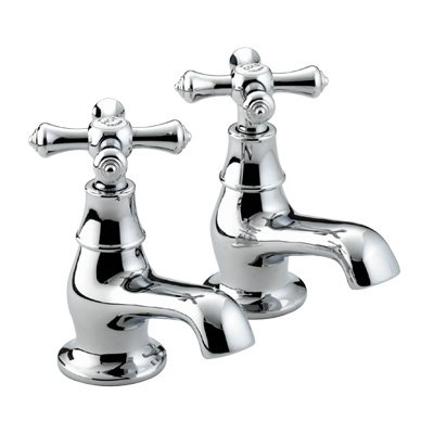 Bristan Colonial Bath Taps Chrome Plated - K 3/4 C - K3/4C