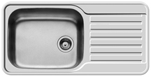 Pyramis Space Mini 1B 1D 1TH Right Hand Kitchen Sink - K44