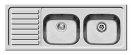 Pyramis Standard Inset 131x51 1B 1TH 2D Right Hand Sink- K95 - DISCONTINUED