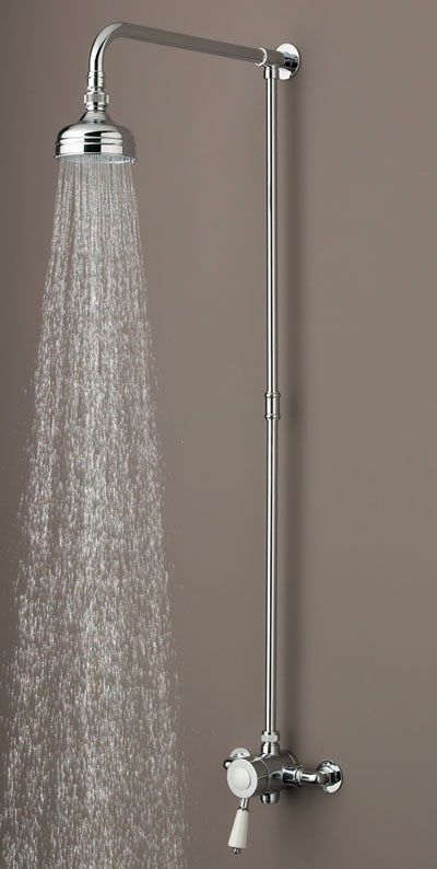 Bristan Colonial Single Sequential Thermostatic Shower and Rigid Riser - KN SHXRR C - KNSHXRRC