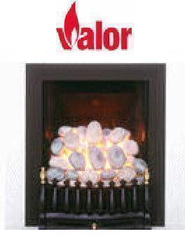 Valor Majestic Decorative Front Black/Brass - DISCONTINUED - 109838BB