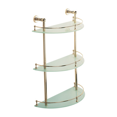 Bristan 1901 3 Tier Towel Shelf Chrome Plated - N 3TSHELF C - N3TSHELFC