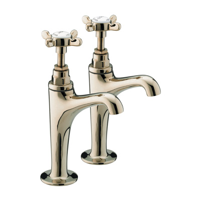 Bristan 1901 High Neck Pillar Taps Chrome Plated - N HNK C - NHNKC