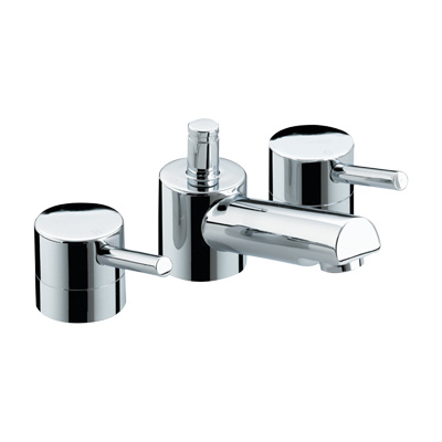 Bristan Prism Three Hole Basin Mixer With Pop-Up Waste - PM 3HBAS C - PM3HBASC