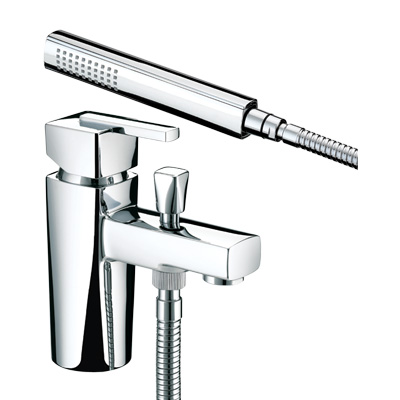 Bristan Qube One Hole Bath Shower Mixer - QU 1HBSM C - QU1HBSMC
